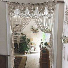Replace curtain or draps with macrame