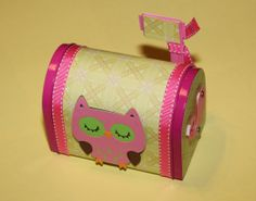 Who Loves You Owl Valentine Mailbox by Kustomcardsandmore on Etsy, $9.00