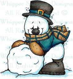 Snowball Snowman - Snowmen Images - Snowmen - Rubber Stamps