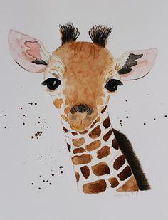 Giraffenbaby (Aquarell)
