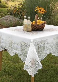 Heirloom Square Tablecloth   Heritage Lace $44