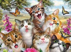 Friendly Felines by Howard Robinson (192 pieces)