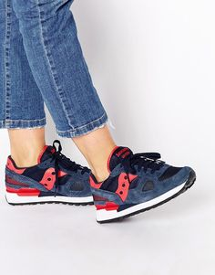 Image 1 - Saucony - Shadow - Baskets - Bleu marine et rose
