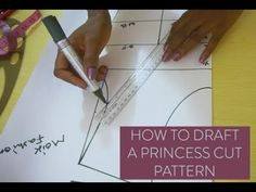 This video shows a simple way to draft a modified princess cut dart. This kind of dart gives your garment a fitted look and lovely design. Princess Line Dress, Princess Dress Patterns, Princess Style, Princess Seam, Mermaid Skirt Pattern, Bodice Pattern, Princess Cut Blouse Design, Pattern Drafting Tutorials, Sewing Patterns