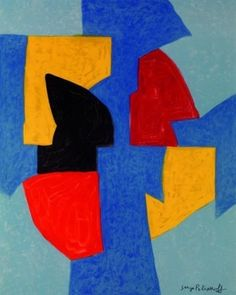 Serge Poliakoff Exposition Musee National D Art Moderne gallery exhibition 23 Septembre - 16 Novembre . Original art modern poster from 1970 France. Kunst Poster, Keys Art, Exhibition Poster, Art Moderne, Expo, Elements Of Art, Abstract Canvas, Abstract Paintings, Collage Art