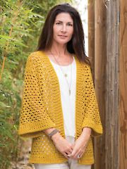 Annie s signature designs cuyama cardi crochet pattern how to make crochet look like knitting the waistcoat stitch Crochet Shrug Pattern, Crochet Cardigan Pattern, Hoodie Pattern, Crochet Jacket, Crochet Shawl, Easy Crochet, Clothing Patterns, Knitting Patterns, Crochet Patterns