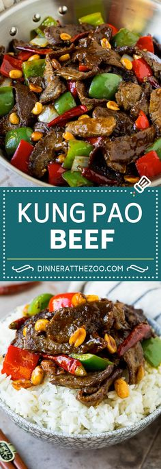 This kung pao beef is a combination of thinly sliced steak, bell peppers, onions and roasted peanuts, all in a savory and spicy sauce. A remake of the popular take out classic that's even better than what you'd get at a restaurant.