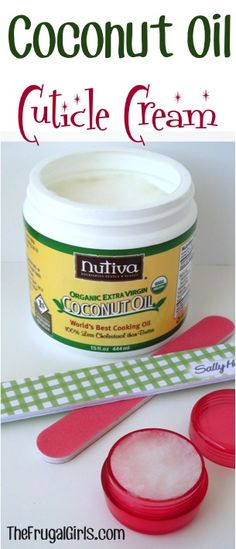 Coconut Oil Cuticle Cream! ~ from TheFrugalGirls.com {repair those dry cuticles with this simple little trick!} #coconutoil #nails
