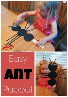 Simple Bug Activities for Kids {Denise Fleming Virtual Book Club for Kids} - Toddler Approved!: Simple Bug Activities for Kids {Denise Fleming Virtual Book Club for Kids} - Insect Activities, Kids Learning Activities, Preschool Activities, Preschool Bug Theme, Ant Crafts, Insect Crafts, Daycare Crafts, Toddler Crafts, Letter A Crafts