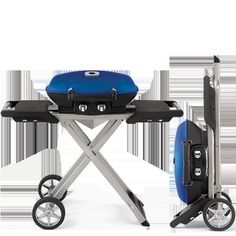 portable gas grill - Traditional barbecues take up a large amount of space, which isn't conducive to those living in urban locations, so the Napoleon 'Trave. Portable Gas Bbq, Americas Backyard, Charcoal Bbq Grill, Beach Bbq, Grillz, Picnic Foods, Barbecues, Backyard Bbq, Napoleon