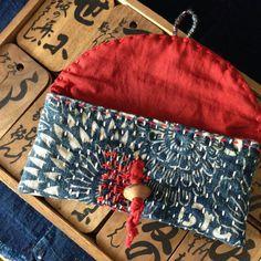 Sashiko Hand-Sewn Stitching/ Vintage Katazome Indigo Dyed
