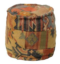 Malkara Too Round Pouf - Bohemian Style Seat Or Ottoman, Furniture, Home Decor   Soft Surroundings