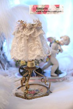 antique lace lampshade