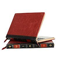 Mosiso Vintage Classic Premium PU Leather Zipped Book Sleeve Cover Only for MacBook Pro 13 Inch with Retina Display No CD-Rom (A1502 / A1425, Version 2015 / 2014 / 2013 / end2012), Wine Red