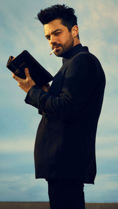 Check out a new batch of Preacher photos from AMC. Dominic Cooper leads the comic book adaptation as Jesse Custer, a preacher given supernatural powers. Dominic Cooper, Dominic West, Preacher Amc, Pop Culture Halloween Costume, Halloween Costumes, Easy Halloween, Steve Dillon, Tv Preachers, Movies And Series