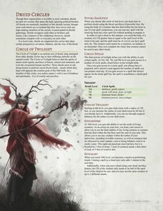 DnD Homebrew — Circle of Twilight Druid by Dungeons And Dragons Classes, Dungeons And Dragons Homebrew, Fantasy Creatures, Mythical Creatures, Dnd Druid, Dnd Classes, Dnd Races, Science Fiction, Dnd 5e Homebrew