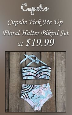 At CUPSHE, you can get Cupshe Pick Me Up Floral Halter Bikini Set at $19.99.  Avail this deal before it end.  For more Cupshe Coupon Codes visit:  http://www.couponcutcode.com/stores/cupshe-coupon-codes/