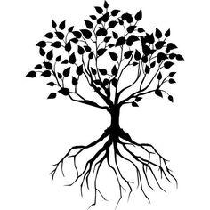 Decorative Tree Roots Tattoo Design photo - 1