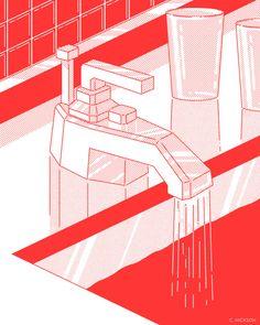 sunday-thought:Sunday ThoughtsFebruary 2015 Flat Illustration, Graphic Design Illustration, Graphic Design Art, Graphic Design Inspiration, Performance Artistique, Isometric Design, Aesthetic Drawing, Grafik Design, Illustrations And Posters