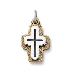 Mission San José Bronze & Silver Cross | James Avery