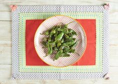 Pan-fried Padrón Peppers || The ideal pre-meal nibble, these small Spanish peppers are packed with flavour and, for the most part, are not spicy at all - although keep your eye out for the odd one or two with a kick! Super easy to make in minutes with only olive oil and salt.