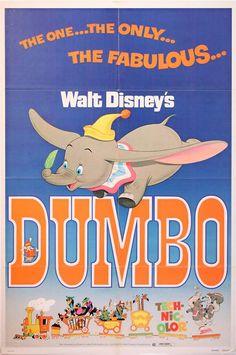 original release poster for walt disney's dumbo c.1941