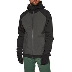 Billabong Downhill Softshell Mens Jacket Snowboard - Iron Heather All Sizes | eBay Types Of Jackets, Ski Goggles, Outdoor Wear, Ski And Snowboard, Softshell, Gray Jacket, Billabong, Iron, Unisex