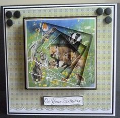 Card made from the British Wildlife DVD-Rom British Wildlife, It's Your Birthday, Handmade Cards, Charity, Card Ideas, Card Making, Crafting, Baseball Cards, World