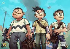 GTA5 x Doraemon