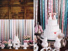 beautiful cake and fun toppers!