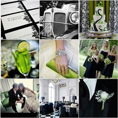 Black and green wedding theme