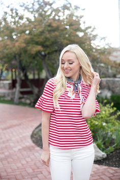 Guys, how perfect is this top for the 4th of July! Its never too early to start planning ahead!