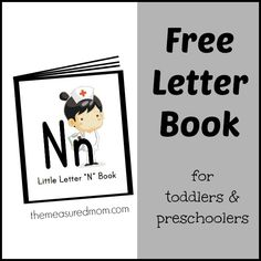 letter n activities for preschool pinterest | ... book the measured mom Free Letter Book of Rhymes & Songs Letter N