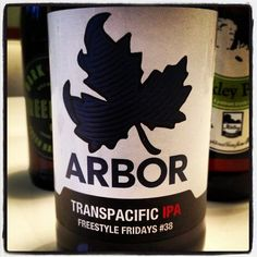 Arbor Ales Transpacific IPA #38 - 6.7% ABV - made with Crystal Malt and American and New Zealand hops