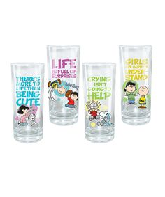 Look what I found on #zulily! Peanuts Glass Set by Peanuts #zulilyfinds