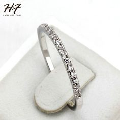 Gold Concise Classical CZ Diamond Wedding Ring