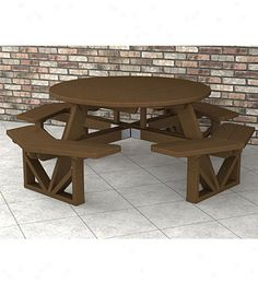 Large Wooden Spool Projects | Poly-wood??? Octagon Park aTble .