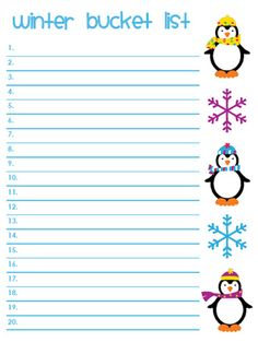 100 Things To Do This Winter On Pinterest Winter Bucket