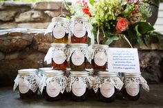jam wedding favors | Whitney Carlson of Dove Wedding Photography for sharing this wedding ...