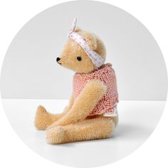 Polka Dot Club — Classic Mohair Teddy Bears. Reminds me of my Miss Wendy