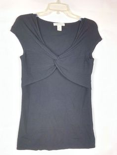 f91f233cd8 White House Black Market Women Black Sweater Sz M Sleeveless Twist Silk  Blend 14  WhiteHouseBlackMarket