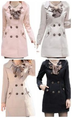 I love this coat! Adorable fashion idea. Double Breasted Long Trench Coat Jacket