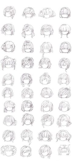 hairstyles ✤ || CHARACTER DESIGN REFERENCES | Find more at https://www.facebook.com/CharacterDesignReferences if you're looking for: #line #art #character #design #model #sheet #illustration #expressions #best #concept #animation #drawing #archive #library #reference #anatomy #traditional #draw #development #artist #pose #settei #gestures #how #to #tutorial #conceptart #modelsheet #cartoon #hair