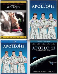 """""""Houston, we have a problem."""" Those words were immortalized during the tense days of the #Apollo13 lunar mission crisis in 1970, events recreated in this #epic #historical #drama from #RonHoward. Astronaut Jim Lovell ( #TomHanks ) leads command module pilot Jack Swigert ( #KevinBacon ) and lunar module driver Fred Haise ( #BillPaxton ) on what is slated as #NASA's third lunar landing mission. #DVD #Space"""
