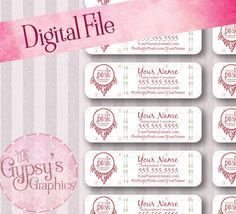 If you have been looking for a stylish way to brand your personal business, look no further. The Gypsy's Graphics create marketing material just for you! Our shop offers entire branding sets including Business Cards, Thank You Postcards, Labels, and Stickers. Sit back and watch your personal business soar with these professional, eye-catching items.