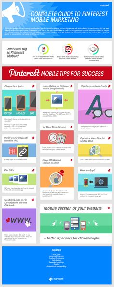 Guía completa para #Pinterest Mobile Marketing #infografia #infographic #socialmedia