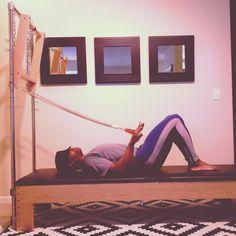 "Go Out ""SPRINGing"" @PilatesDwell_Canton   Cadillac Exercise: Triceps Press :: Strengthens #arms #shouldergirdle #trunkstabilization • #pilates #pilatesinstructor #pilatesformen #contrology #classicalpilates #calisthenics #fitness #gymnastics #personaltrainer #yoga"