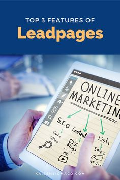 Is Leadpages software a good idea for your online business? Learn all about Leadpages, prices, how it works, landing pages, design, pros and cons. Kaizen Sigma helps local businesses with time-tested marketing techniques, strategy, content marketing, social media management, advertising and video production. Follow for tips and hacks for entrepreneurs. #businesstips #onlinebusiness Email Marketing Design, Online Marketing Tools, Content Marketing, Make Business, Business Tips, Online Business, Create Landing Page, Landing Page Inspiration, Responsive Site