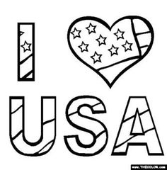 free fourth of july coloring pages color in this picture of i love usa and others with our library of online coloring pages