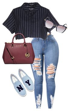 A fashion look from March 2017 featuring Opening Ceremony tops, Joshua& sneakers and MICHAEL Michael Kors tote bags. Browse and shop related looks. Baddie Outfits Casual, Casual Summer Outfits, Swag Outfits, Classy Outfits, Stylish Outfits, Cool Outfits, Look Fashion, Teen Fashion, Fashion Outfits